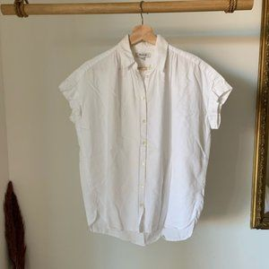 Madewell central button down white